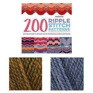 200 Ripple Stitch Patterns Book by Jan Eaton: with 2x 100g of DK Yarn FREE
