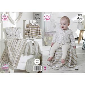 King Cole Baby Cardigan/Jumper/Blanket Pattern