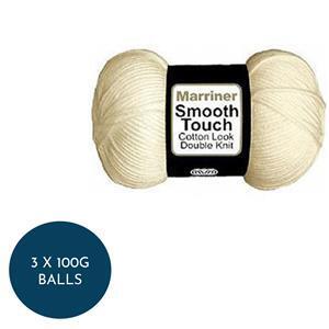 Marriner Random Cream Smooth Touch Cotton DK : 3 x 100g balls