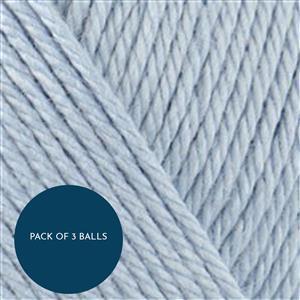 Stylecraft Powder Blue Naturals Bamboo+Cotton DK 100g: Pack of 3 Balls