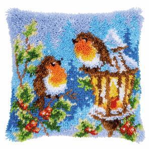 Christmas Robins Latch Hook Kit