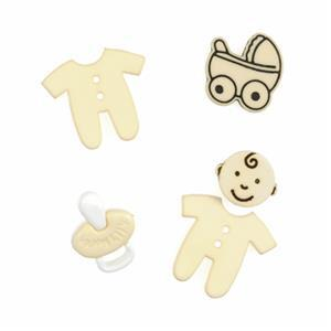 Novelty Baby Yellow Buttons Pack of 5