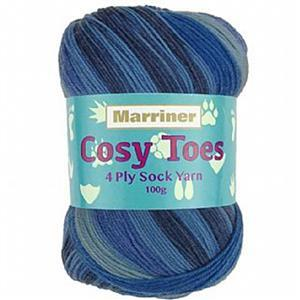 Marriner Dolphin Cosy Toes 4 Ply Yarn 100g