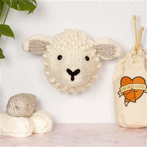 Sincerely Louise White Giant Sheep Head Knitting Kit