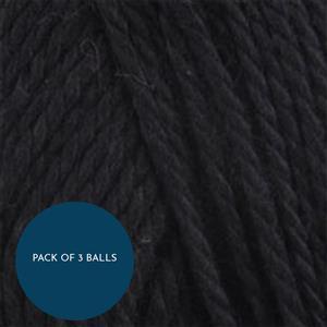 King Cole Black Cottonsoft DK 100g: Pack of 3 Balls