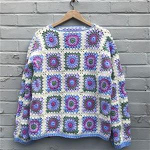 Adventures in Crafting Spring Granny Square Jumper