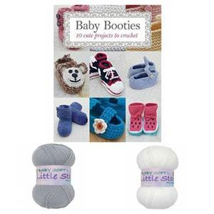 Baby Booties Booklet by Susie Johns: with 2 x 100g Baby DK Yarn FREE
