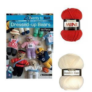 20 to Knit: Dressed-up Bears Book by Val Pierce: with 2 x 50g of DK Yarn FREE