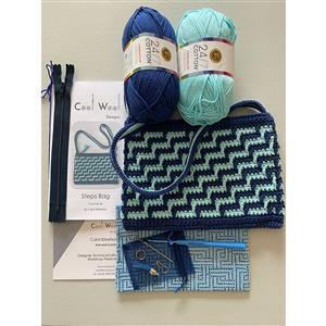 Cool Wool Designs Navy/Aqua Steps Bag Kit