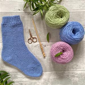 Anna Nikipirowicz Cornflower Crochet Sock Kit