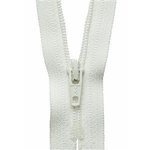 Cream Nylon Zip 30cm