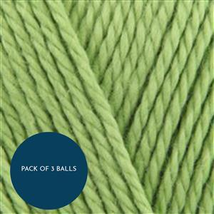 King Cole Lime Cottonsoft DK 100g: Pack of 3 Balls