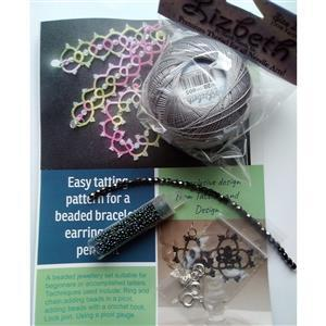 Tatting and Design Greys Beaded Jewellery kit