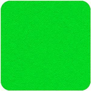 Felt Square in Super Bright Green 22.8x22.8cm (9x9
