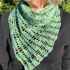 Woolly Chic Hand Dyed Willow In the Willow Shade Scarf Kit