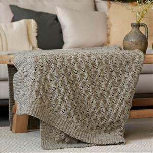 Natural Home Lattice Lace Throw Yarn Pack