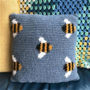 Adventures in Crafting Bee Tapestry Crochet Cushion Kit